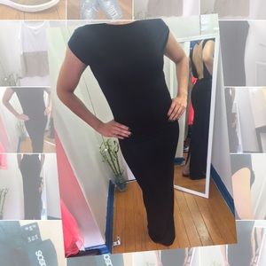 ASOS❤️ Black long fitted maxi dress